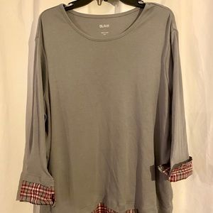 NWOT Women's Plus Size Casual 3/4 sleeve shirt
